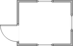 Схема планировки Бытовка пост охраны